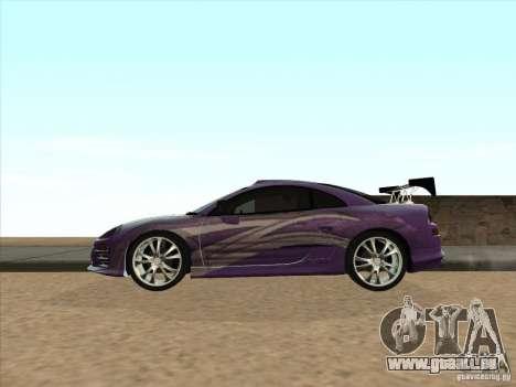 Mitsubishi Eclipse Spyder 2FAST2FURIOUS pour GTA San Andreas laissé vue