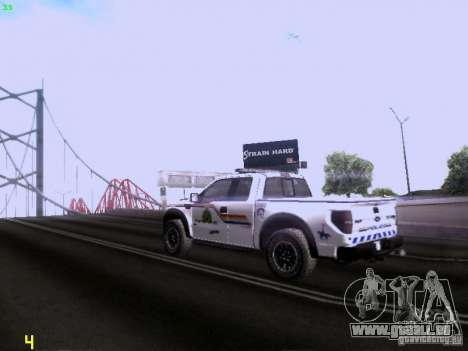 Ford Raptor Royal Canadian Mountain Police für GTA San Andreas rechten Ansicht
