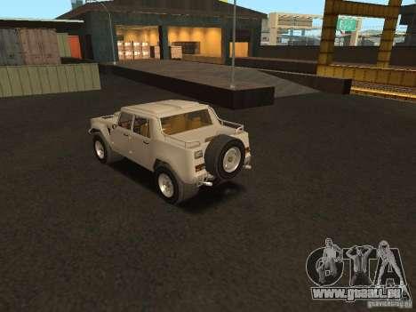 Lamborghini LM-002 pour GTA San Andreas vue arrière