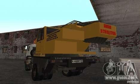 MAZ-LKW-Kran für GTA San Andreas zurück linke Ansicht