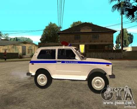 VAZ 2121 Police pour GTA San Andreas vue de droite