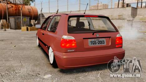 Volkswagen Golf MK3 Turbo pour GTA 4 Vue arrière de la gauche