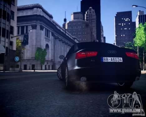 Audi A6 2012 pour GTA 4 Vue arrière