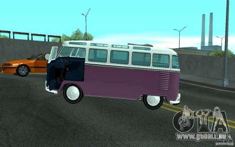 Volkswagen Transporter T1 SAMBAQ CAMPERVAN pour GTA San Andreas moteur