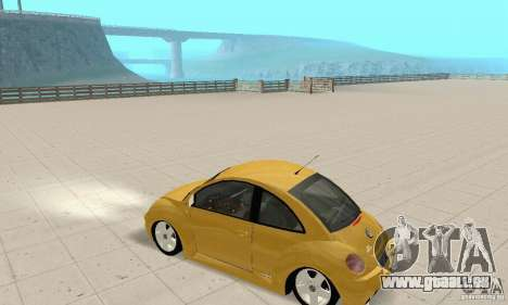 Volkswagen New Beetle GTi 1.8 Turbo pour GTA San Andreas vue arrière