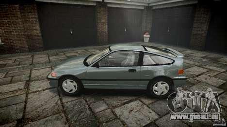 Honda CRX 1991 pour GTA 4 est une gauche