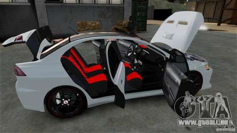 Mitsubishi Lancer Evo X pour GTA 4 est un côté