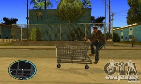 Shopping Cart Faggio V2 pour GTA San Andreas vue de droite