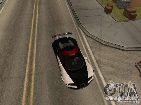 Bugatti Veyron Police pour GTA San Andreas sur la vue arrière gauche