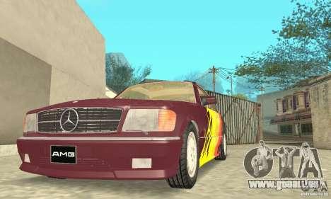 Mercedes-Benz W126 560SEC pour GTA San Andreas roue