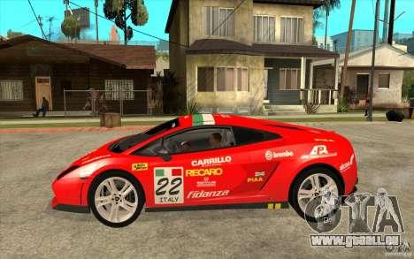 Lamborghini Gallardo LP560 für GTA San Andreas linke Ansicht