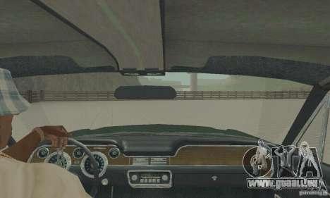 Ford Mustang Bullitt 1968 v.2 für GTA San Andreas Rückansicht