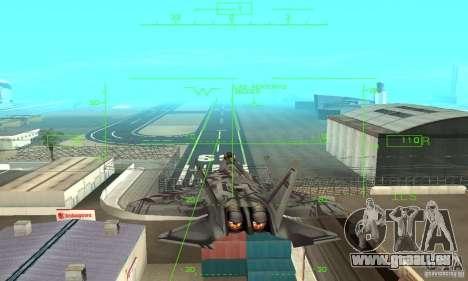 YF-22 Starscream für GTA San Andreas Seitenansicht