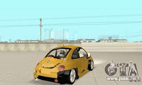 Volkswagen New Beetle GTi 1.8 Turbo für GTA San Andreas obere Ansicht