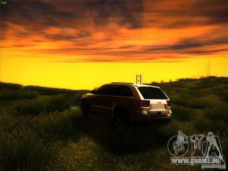Jeep Grand Cherokee 2012 v2.0 pour GTA San Andreas sur la vue arrière gauche