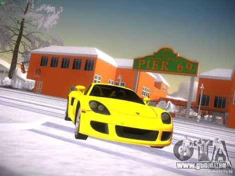 Porsche Carrera GT für GTA San Andreas Rückansicht