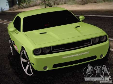 Dodge Challenger SRT8 2010 pour GTA San Andreas laissé vue