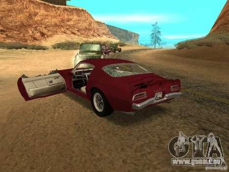 Pontiac Firebird 1970 pour GTA San Andreas vue de côté