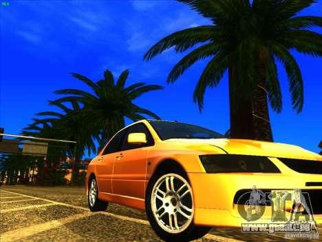 Mitsubishi Lancer Evolution IX MR pour GTA San Andreas vue de côté