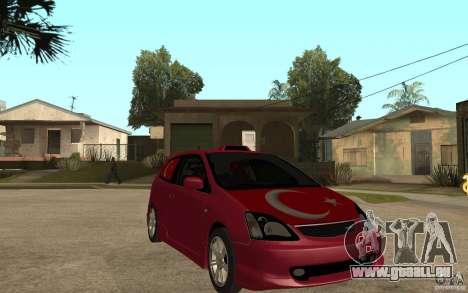 Honda Civic Type R pour GTA San Andreas vue arrière