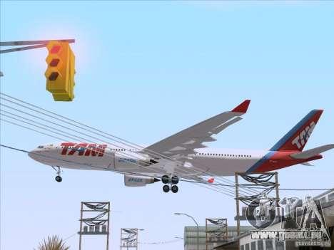 Airbus A330-223 TAM Airlines für GTA San Andreas Rückansicht