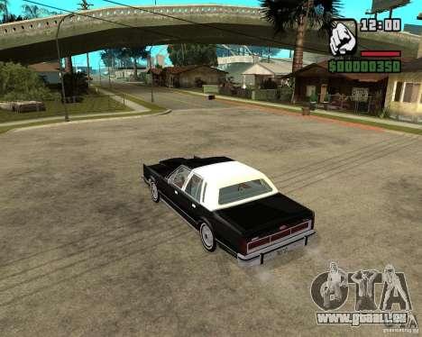 Lincoln Town Car 1986 für GTA San Andreas zurück linke Ansicht