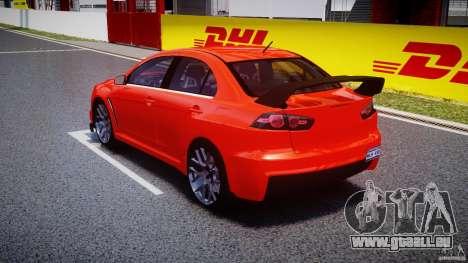 Mitsubishi Lancer Evo X 2011 pour GTA 4 Vue arrière de la gauche