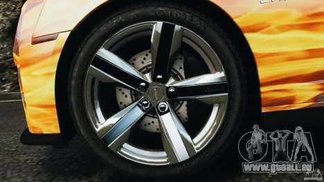 Chevrolet Camaro ZL1 2012 v1.0 Flames pour GTA 4 est une vue de dessous