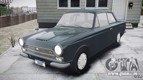 Lotus Cortina S 1963 für GTA 4 Seitenansicht