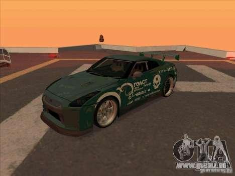 Nissan GT-R R35 rEACT pour GTA San Andreas laissé vue