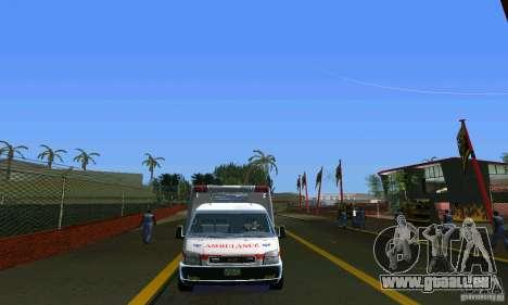RTW Ambulance für GTA Vice City rechten Ansicht