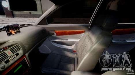 Chevrolet Evanda pour GTA 4 est une vue de l'intérieur