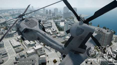 HH-60G Pavehawk pour GTA 4 est une vue de l'intérieur