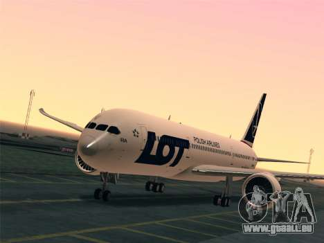 Boeing 787-9 LOT Polish Airlines für GTA San Andreas Innen