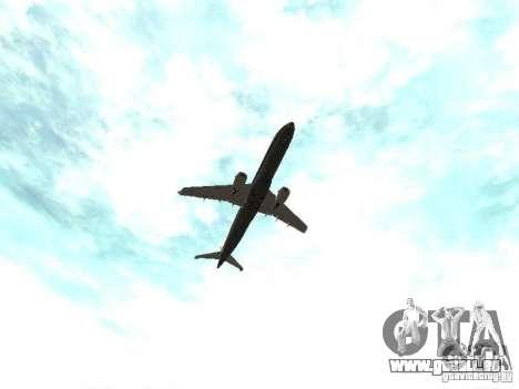 Embraer E-190 für GTA San Andreas Seitenansicht