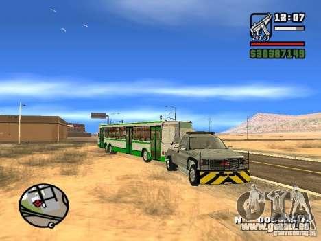 GMC Sierra Tow Truck für GTA San Andreas Seitenansicht