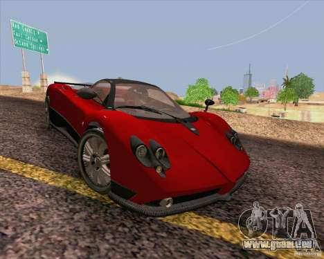 Pagani Zonda F v2 für GTA San Andreas Innenansicht