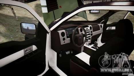 Ford F150 SVT Raptor 2011 UNSC pour GTA 4 vue de dessus