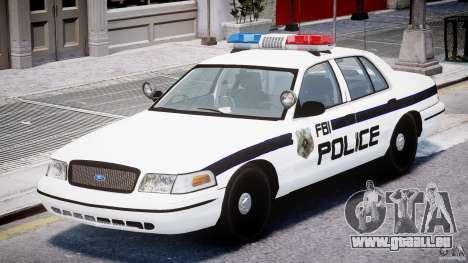 Ford Crown Victoria FBI Police 2003 pour GTA 4 est une gauche