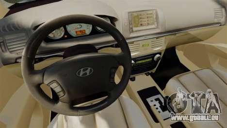 Hyundai Sonata 2008 pour GTA 4 Vue arrière