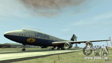 Lufthansa Airplanes für GTA 4 linke Ansicht