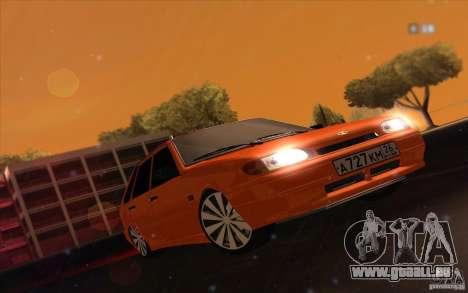 Ваз 2114 saftige Orange für GTA San Andreas zurück linke Ansicht