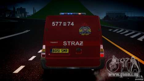 Ford Transit Polish Firetruck [ELS] pour GTA 4 Salon