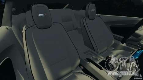 Chevrolet Camaro ZL1 2012 v1.0 Flames pour GTA 4 est un côté