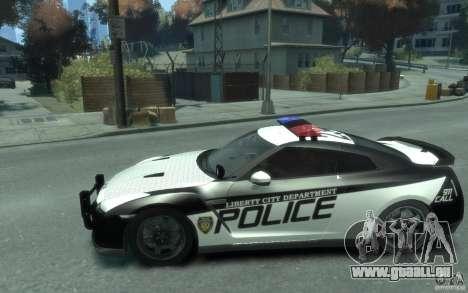 Nissan GT-R R35 Police für GTA 4 linke Ansicht