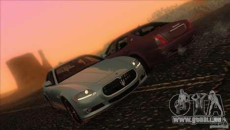 Maserati Quattroporte Sport GT V1.0 pour GTA San Andreas vue de dessous