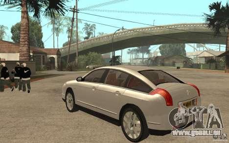Citroen C6 für GTA San Andreas zurück linke Ansicht