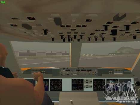 Sukhoi Superjet-100 pour GTA San Andreas vue de dessus