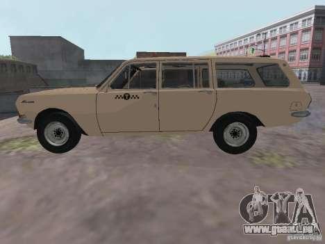 Volga GAZ-24 Taxi 02 pour GTA San Andreas laissé vue