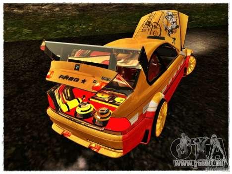 BMW M3 Calibri-Ace pour GTA San Andreas vue arrière